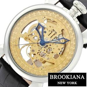 [送料無料]ブルッキアーナ腕時計[BROOKIANA時計](BROOKIANA腕時計ブルッキアーナ時計)メンズ/レディース/ユニセックス/男女兼用腕時計/ゴールド/BA4102-GPBK[革ベルト/機械式/自動巻/メカニカル/正規品/ブルッキーアーナ/ブランド/シルバー]