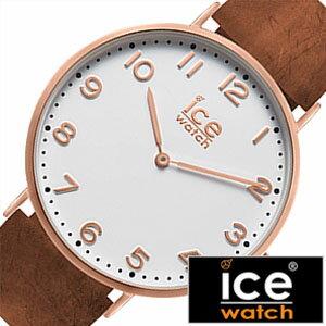 [送料無料]アイスウォッチ腕時計[ICEWATCH時計](ICEWATCH腕時計アイスウォッチ時計)シティホワイトチャペル(CityWhitechapel)メンズ/レディース/ホワイト/CHLAWHI41N[革ベルト/正規品/防水/アイスシティー/レザー/ブラウン/ローズゴールド/おしゃれ]