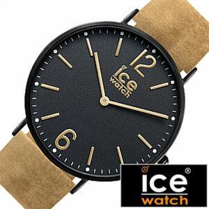 [送料無料]アイスウォッチ腕時計[ICEWATCH時計](ICEWATCH腕時計アイスウォッチ時計)シティプレストン(CityPreston)メンズ/レディース/ユニセックス/ブラック/CHLBPRE36N[革ベルト/正規品/防水/アイスシティー/レザー/ライトブラウン/ゴールド/おしゃれ]