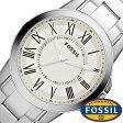 フォッシル腕時計 FOSSIL時計 FOSSIL 腕時計 フォッシル 時計 グラント GRANT メンズ/ホワイト FS4734 [メタル ベルト/シルバー/アイボリー/クリーム/ファッション/人気/フォーマル]