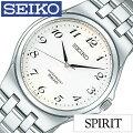 [����̵��]���������ӻ���[SEIKO����](SEIKO�ӻ��ץ�����������)���ԥ�å�(SPIRIT)����ӻ���/�ۥ磻��/SCXP027[���٥��/������/ή�̸����ǥ�/����С�/����ץ�]