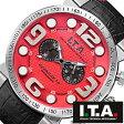 【5年延長保証】 アイティーエー 腕時計 I.T.A. 腕時計 アイティーエー 時計 I.T.A. 時計 [ ITA ] ITA腕時計 ITA時計 ビーコンパックス ロッソ2 B.COMPAX 2 ROSSO2 メンズ レッド ITA-18-00-08 [ 革 ベルト クロノグラフ 正規品 イタリア ブランド 防水 ブラック ]