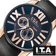 【5年延長保証】 アイティーエー 腕時計 I.T.A. 腕時計 アイティーエー 時計 I.T.A. 時計 [ ITA ] ITA腕時計 ITA時計 オペラ Opera メンズ ブラック ITA-21-00-06 [ 革 ベルト 機械式 自動巻 メカニカル 正規品 イタリア ブランド ローズ ゴールド メッキ ]