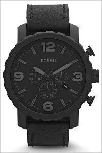 [送料無料]フォッシル腕時計[FOSSIL時計](FOSSIL腕時計フォッシル時計)ネイト(NATE)メンズ/腕時計/ブラック/JR1354[人気/新作/ブランド/防水/革ベルト/レザー/ブラック]