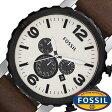 フォッシル 腕時計 メンズ 男性 [ FOSSIL ] フォッシル 時計 [ fossil 腕時計 メンズ ] ネイト NATE アイボリー JR1390 [人気/ブランド/防水/革 ベルト/レザー/ブラウン]