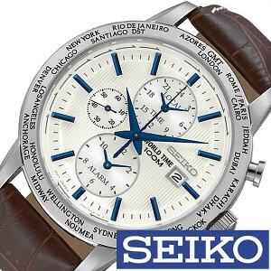 [送料無料]セイコー腕時計[SEIKO時計](SEIKO腕時計セイコー時計)メンズ/腕時計/シルバー/SPL051PC[人気/新作/ブランド/防水/革ベルト/レザー/ブラウン/シルバー/海外モデル/海外セイコー]