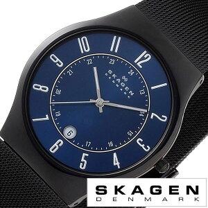 [送料無料]スカーゲン腕時計[SKAGEN時計](SKAGEN腕時計スカーゲン時計)メンズ/腕時計/ブルー/T233XLTMN[人気/新作/ブランド/防水/ステンレスベルト/シルバー/ブルー/ブラック]
