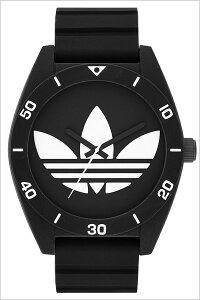 [送料無料]アディダスオリジナルス腕時計[adidasoriginals時計](腕時計アディダスオリジナルス時計)サンティアゴ(SANTIAGO)メンズ腕時計/ブラック/ADH2967[シリコンベルト/スポーツウォッチ/おしゃれ/かわいい/ホワイト/モノクロ]