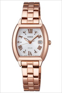[送料無料]ワイアードエフ腕時計[WIREDf時計](WIREDf腕時計ワイアードエフ時計)レディース腕時計/ホワイト/AGED077[メタルベルト/正規品/ソーラー/ワイヤード/SEIKO/シルバー/ローズゴールド]