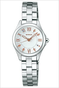 [送料無料]ワイアードエフ腕時計[WIREDf時計](WIREDf腕時計ワイアードエフ時計)レディース腕時計/ホワイト/AGEK430[メタルベルト/正規品/クォーツ/ワイヤード/SEIKO/ペアモデル/シルバー/ローズゴールド]