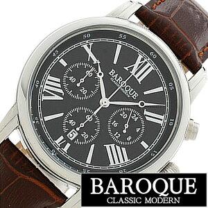 [送料無料]バロック腕時計[BAROQUE時計](BAROQUE腕時計バロック時計)クラシコ(CLASSICO)メンズ/腕時計/ブラック/BA1003S-02BR[正規品/人気/新作/ブランド/防水/ステンレスベルト/ブラウン/ブラック]