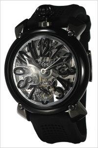 [送料無料]ガガミラノ腕時計[GaGaMILANO時計](GaGaMILANO腕時計ガガミラノ時計)マニュアーレ(MANUALE48MM)メンズ/レディース/ホワイト/GG-609201[マヌアーレ/人気/イタリア/ブランド/機械式/手巻き/革ベルト/防水/ブラック/6092.01]