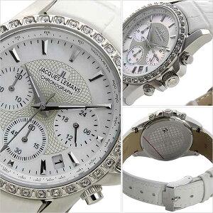 [送料無料]ジャックルマン腕時計[JACQUESLEMANS時計](JACQUESLEMANS腕時計ジャックルマン時計)リバプール(LIVERPOOL)レディース/腕時計/ホワイト/JAL1-1724B[正規品/人気/新作/ブランド/防水/革ベルト/レザー/ホワイト/スワロフスキー/クリスタル]
