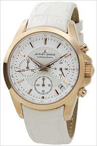 [送料無料]ジャックルマン腕時計[JACQUESLEMANS時計](JACQUESLEMANS腕時計ジャックルマン時計)リバプール(LIVERPOOL)レディース/腕時計/ホワイト/JAL1-1752H[正規品/人気/新作/ブランド/防水/革ベルト/レザー/ホワイト/ピンクゴールド]