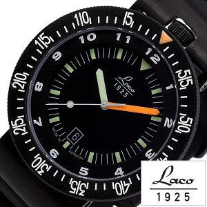[送料無料]ラコ腕時計[Laco時計](Laco腕時計ラコ時計)アタカマズ(ATACAMA)メンズ腕時計/ブラック/LACO-861632[ラバーベルト/機械式/メカニカル/自動巻/正規品/防水/オールブラック/ダイバー]