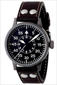 [送料無料]ラコ腕時計[Laco時計](Laco腕時計ラコ時計)ライプチヒ(LEIPZIG)メンズ腕時計/ブラック/LACO-861747[革ベルト/機械式/メカニカル/自動巻/正規品/防水/シルバー/ブラウン]