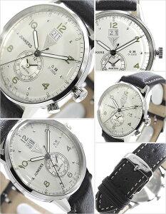 [送料無料]ユンカース腕時計[JUNKERS時計](JUNKERS腕時計ユンカース時計)ビックデイトデュアルタイム(BigdateDualtime)メンズ腕時計/シルバー/JUN-6940-4[革ベルト/正規品/アナログ/ブラック/シルバー/6940-4QZ]