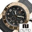 [20本限定]ヌーティッド 腕時計[ NUTID 時計 ]ヌーティッド 時計[ NUTID 腕時計 ]マット ブル MATT BULL メンズ/ブラック N-1403M-A [正規品/デザイナーズウォッチ/ファッション/デザイン/人気/ブランド/防水/シリコン/ラバー/ゴールド]