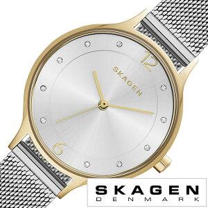 [送料無料]スカーゲン腕時計[SKAGEN時計](SKAGEN腕時計スカーゲン時計)ア二タ(Anita)レディース腕時計/シルバー/SKW2340[人気/新作/流行/ブランド/防水/メタルベルト/シンプル/クリスタル/メッシュ/ゴールド]