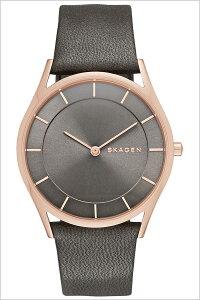 [送料無料]スカーゲン腕時計[SKAGEN時計](SKAGEN腕時計スカーゲン時計)ホルスト(Holst)メンズ/レディース腕時計/グレー/SKW2346[人気/新作/流行/ブランド/防水/革ベルト/レザー/シンプル/ピンクゴールド]