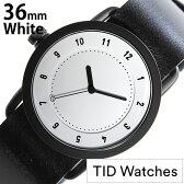 ティッドウォッチズ 腕時計 レディース 女性 [ TID watches ] ホワイト TID01-WH36-BK [ 革 ベルト おしゃれ インスタ モデル 北欧 ペア ブラック ]
