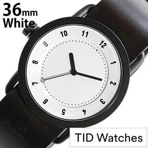[送料無料]ティッドウォッチ腕時計[TIDWatches時計](TIDWatches腕時計ティッドウォッチ時計)(TIDNo.1)レディース腕時計/ホワイト/TID01-WH36-W[革ベルト/正規品/おしゃれ/防水/替え/北欧/アナログ/ダークブラウン/ブラック]