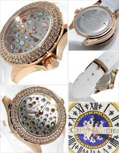 [送料無料]カプリウォッチ腕時計[CAPRIWATCH時計](CAPRIWATCH腕時計カプリウォッチ時計)マルチジョイホワイト/CAPRI-5069-WH[正規品/人気/新作/流行/トレンド/ブランド/防水/ラバー/ピンクゴールド/かわいい/スワロフスキー/クリスタル/イタリア]