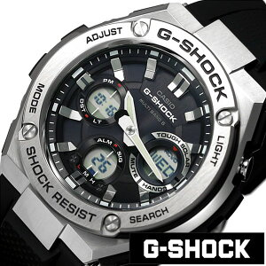 [送料無料]カシオ腕時計[CASIO時計](CASIO腕時計カシオ時計)GショックGスチール(GSHOCKG-STEEL)メンズ/腕時計/ブラック/CASIO-GST-W110-1AJF[正規品/新作/人気/流行/トレンド/ブランド/防水/樹脂/ジースチール/シルバー/ジーショック]