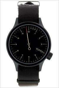 [ポイント10倍][送料無料]コモノ腕時計[KOMONO時計](KOMONO腕時計コモノ時計)マグナスザ・ワン(MAGNUSTHEONE)メンズ/レディース/腕時計/ブラック/KOM-W1904[人気/新作/ブランド/トレンド/革ベルト/レザー/ベルギー/ヨーロッパ]