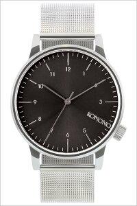 [ポイント10倍][送料無料]コモノ腕時計[KOMONO時計](KOMONO腕時計コモノ時計)ウィンストンロイヤル(WINSTONROYALE)メンズ/レディース/腕時計/ブラック/KOM-W2357[人気/新作/ブランド/トレンド/メタルベルト/シンプル/シルバー/ベルギー/ヨーロッパ]