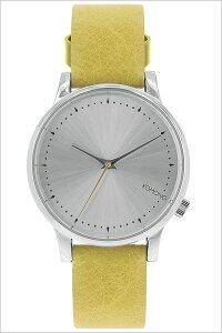[ポイント10倍][送料無料]コモノ腕時計[KOMONO時計](KOMONO腕時計コモノ時計)エステール(ESTELLE)レディース/腕時計/シルバー/KOM-W2456[人気/新作/ブランド/トレンド/革ベルト/レザー/イエロー/ベルギー/ヨーロッパ]