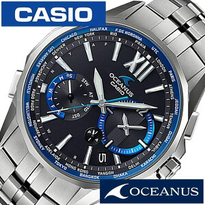 [送料無料]カシオ腕時計[CASIO時計](CASIO腕時計カシオ時計)オシアナスマンタ(OCEANUSManta)メンズ/腕時計/ブラック/CASIO-OCW-S3400-1AJF[正規品/新作/人気/流行/トレンド/ブランド/防水/チタンベルト/シルバー]