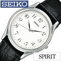 ���������ӻ���[SEIKO����](SEIKO�ӻ��ץ�����������)���ԥ�å�(SPIRIT)����ӻ���/�ۥ磻��/SBTB005[�ץ٥��/������/�ɿ�/�֥�å�/����С�]