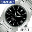 【5年延長保証】【正規品】 セイコー スピリット 腕時計 [ SEIKO SPIRIT 時計 ] メンズ ブラック SBTM217 [ メタル ベルト 防水 ソーラー 電波 シルバー チタン プレゼント ]