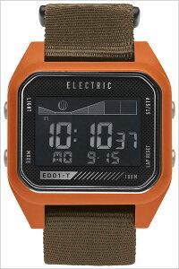 [送料無料]エレクトリック腕時計[ELECTRIC時計](ELECTRIC腕時計エレクトリック時計)(ED01-TNATO)メンズ/レディース/腕時計/ブラック/ED1TN2-OROL[正規品/人気/新作/ブランド/トレンド/ポリエステル/デジタル/タイドグラフ/オレンジ/オリーブ]