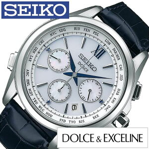 [送料無料]セイコー腕時計[SEIKO時計](SEIKO腕時計セイコー時計)ドルチェ&エクセリーヌ(DOLCE&EXCELINE)メンズ/腕時計/ホワイト/SADA035[人気/新作/ブランド/トレンド/限定500本/ブルーサファイア/レザーベルト/革/ドルチェ/エクセリーヌ/ブルー/シルバー]