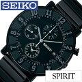 [����̵��]���������ӻ���[SEIKO����](SEIKO�ӻ��ץ�����������)���ԥ�åȥ��ޡ���(SPIRITSMART)���/�ӻ���/�֥�å�/SCEB037[���٥��/��������/������/SEIKO×SOTTSASS�����ǥ�/1000��/����С�/������֥�å�]