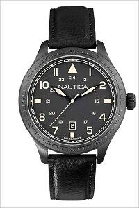 [送料無料]ノーティカ腕時計[NAUTICA時計](NAUTICA腕時計ノーティカ時計)メンズ/腕時計/ブラック/A11107G[正規品/腕時計/ウォッチ/人気/新作/ブランド/トレンド/革/レザーベルト]