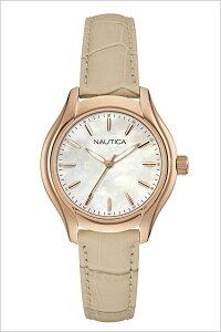 [送料無料]ノーティカ腕時計[NAUTICA時計](NAUTICA腕時計ノーティカ時計)レディース/腕時計/パール/NAI12000M[正規品/腕時計/ウォッチ/人気/新作/ブランド/トレンド/革/レザーベルト/ベージュ]