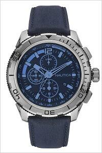 [送料無料]ノーティカ腕時計[NAUTICA時計](NAUTICA腕時計ノーティカ時計)メンズ/腕時計/ブラック/NAI19518G[正規品/腕時計/ウォッチ/人気/新作/ブランド/トレンド/革/レザーベルト/ブルー]