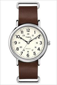 [送料無料]タイメックス腕時計[TIMEX時計](TIMEX腕時計タイメックス時計)ウィークエンダー(Weekender40mm)メンズ/腕時計/ホワイト/S-T2P495[正規品/革ベルト/新品/ファッションウォッチ/シルバー/クリーム/ブラウン]