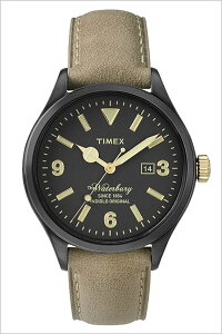 [送料無料]タイメックス腕時計[TIMEX時計](TIMEX腕時計タイメックス時計)ウォ−ターベリーデイト(TheWaterburyDate)メンズ/腕時計/ブラック/S-TW2P74900[正規品/革ベルト/新品/ファッションウォッチ/ブラウン/ゴールド]