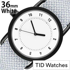 [送料無料]ティッドウォッチズ腕時計[TIDWatches時計](TIDWatches腕時計ティッドウォッチズ時計)クヴァドラ(Kvadrat)メンズ/レディース/腕時計/ホワイト/TID01-WH36-MINERAL[No.1/正規品/おしゃれ/北欧/シンプル/革/レザーバンド/ホワイト]