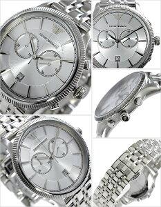 エンポリオアルマーニ腕時計[EMPORIOARMANI時計](EMPORIOARMANI腕時計エンポリオアルマーニ時計)アルファクロノグラフコレクション(AlphaChronograph)腕時計/シルバー/AR1796[新作/人気/流行/ブランド/防水/メタルベルト/クロノグラフ][送料無料]