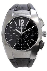 ブルガリ腕時計[BVLGARI時計](BVLGARI腕時計ブルガリ時計)エルゴン(ERGON)メンズ/腕時計/ブラック/EG40BSLDCH[革ベルト/クロノグラフ/機械式/自動巻/メカニカル/スイス/シルバー/オートマチック][送料無料]
