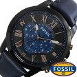 フォッシル 腕時計 メンズ 男性 [ FOSSIL ] フォッシル 時計 [ fossil 腕時計 メンズ ] グラント ( GRANT ) ブルー/FS5061 [人気/流行/ブランド/防水/レザー ベルト/革/ブラック]