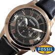 フォッシル 腕時計 メンズ 男性 [ FOSSIL ] フォッシル 時計 [ fossil 腕時計 メンズ ] グラント ( GRANT ) ブラック FS5085 [ 人気 流行 ブランド 防水 レザー ベルト 革 ピンクゴールド ]