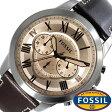 フォッシル 腕時計 メンズ 男性 [ FOSSIL ] フォッシル 時計 [ fossil 腕時計 メンズ ] グラント ( GRANT ) ブラウン/FS5152 [人気/流行/ブランド/防水/レザー ベルト/革/シルバー]
