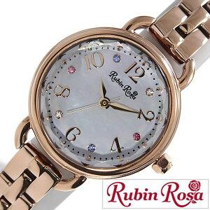 ルビンローザ腕時計[RubinRosa時計](RubinRosa腕時計ルビンローザ時計)レディース/腕時計/ホワイト/R019SOLPWH[新作/人気/流行/ブランド/防水/かわいい/メタルベルト/ソーラー/ピンクゴールド/スワロフスキー][送料無料]