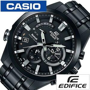 カシオ腕時計[CASIO時計](CASIO腕時計カシオ時計)エディフィス(EDIFICE)メンズ/腕時計/ブラック/CASIO-EQB-510DC-1AJF[メタルベルト/タフソーラー/正規品/防水/BluetoothSMART対応モデル/シルバー][送料無料]
